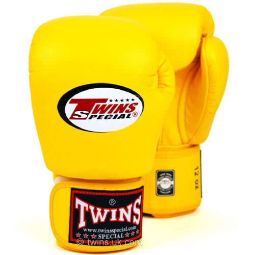 Twins Standard  Boxing Gloves - Yellow